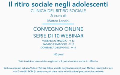 Il ritiro sociale negli adolescenti – Webinar